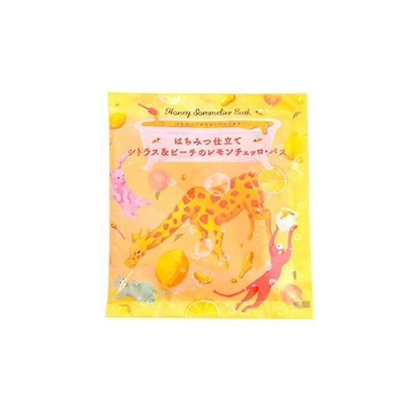 はちみつソムリエ・バスソルト シトラス&ピーチのレモンチェッロ・バス 12個入り バス 洗面 花の種類にこだわった「はちみつ」を配合したバスソルト。