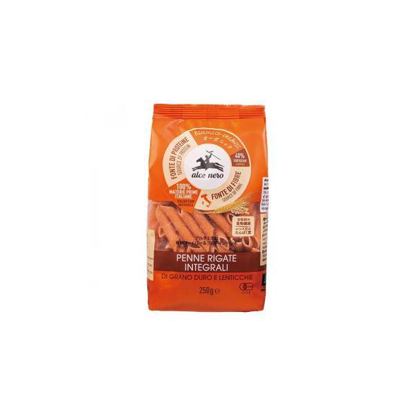 アルチェネロ 有機ファイバー&プロテインペンネ (全粒粉とレンズ豆) 250g 20個セット C6-44 麺類 小麦のおいしさを丸ごと味わえる!