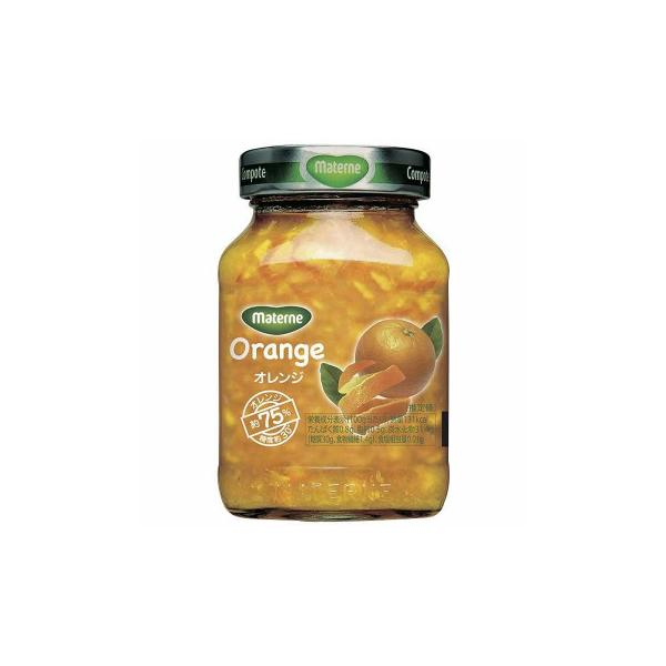 マテルネ オレンジ・コンポート 290g 16個セット D9-50B 米・雑穀・パン・シリアル フルーツを砂糖で煮たヨーロッパ伝統なデザート。