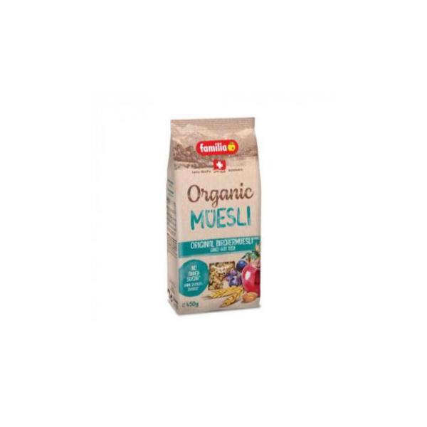 ファミリア オーガニック スイス ビルヒャー ミューズリー 450g×12袋 スイーツ・お菓子 有機栽培された穀物のおいしいグラノーラ。