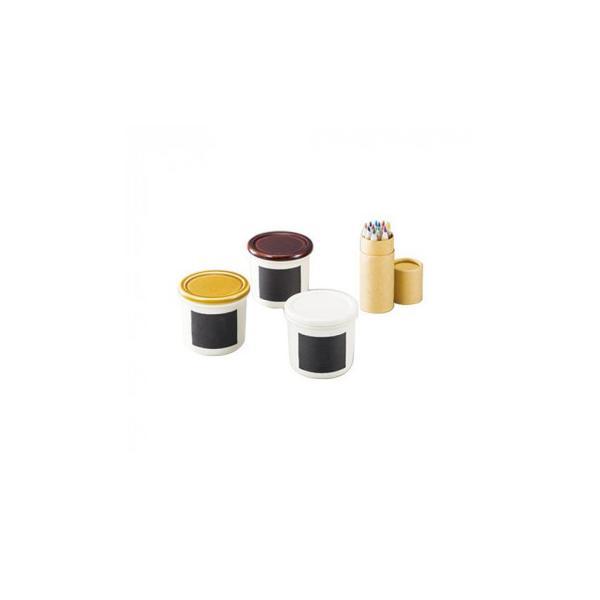 書いて消せるスパイスポットセット(色鉛筆付) 150105 198142-024 容器・ストッカー・調味料容器 ラベルを自分好みにデザイン。