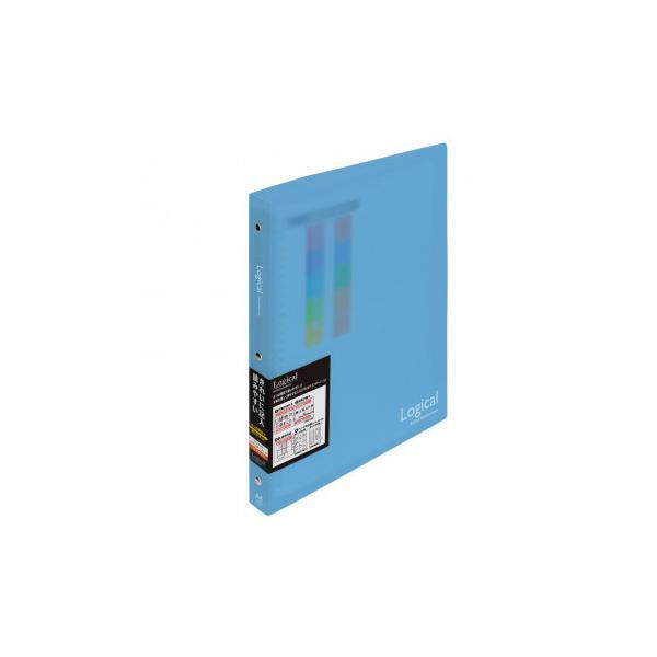 ナカバヤシ ロジカルバインダーノート A4ワイド ブルー BN-A402A-B 文具 シンプルなバインダーノート