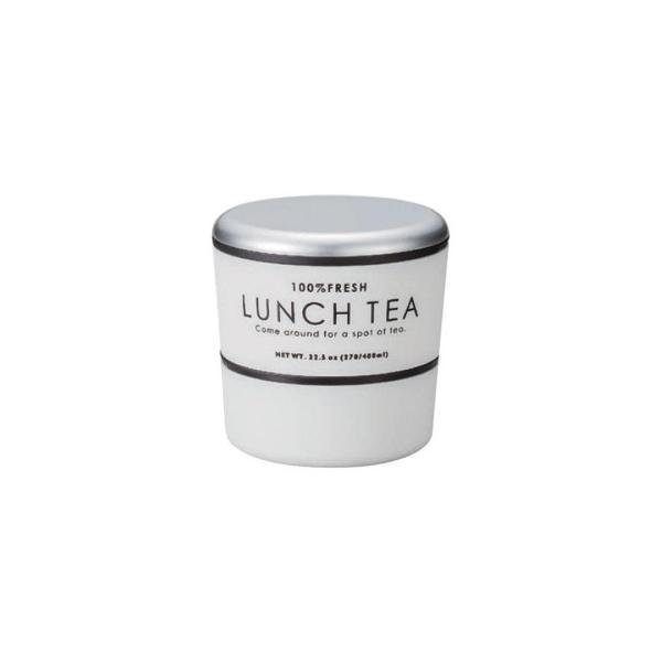 LUNCH TEA ラウンドネストランチボックス ホワイト 47772676 食器 紅茶缶の雰囲気を表現した丸型のお弁当箱
