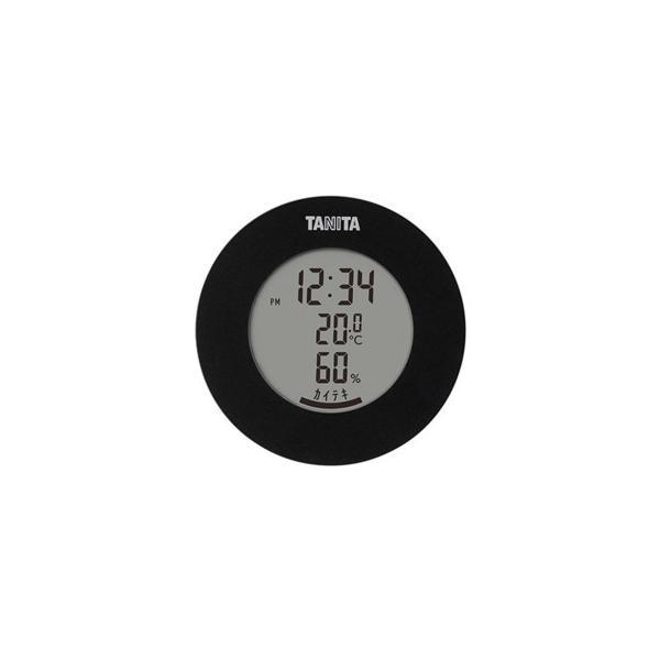 TANITA タニタ デジタル温湿度計 TT-585BK スケール・測定 インテリアに馴染む丸型のデザインの温デジタル湿度計