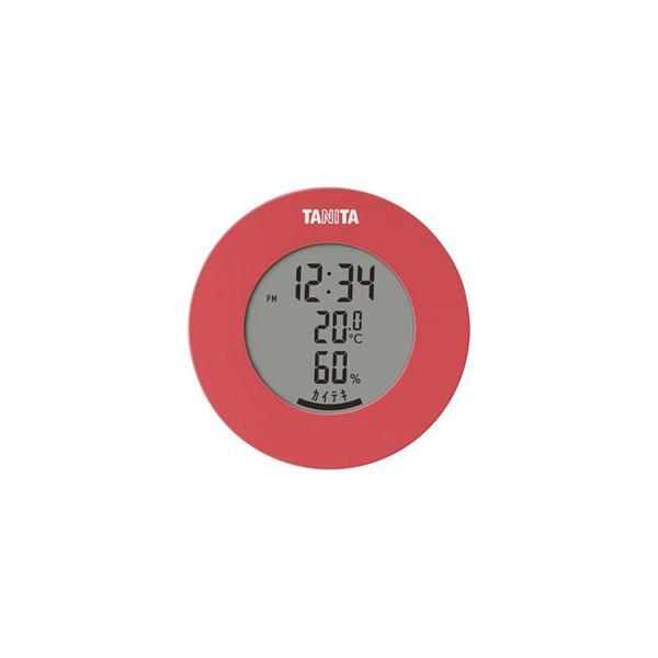 TANITA タニタ デジタル温湿度計 TT-585PK スケール・測定 インテリアに馴染む丸型のデザインの温デジタル湿度計