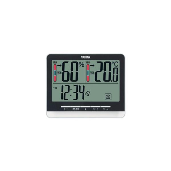 TANITA タニタ デジタル温湿度計 TT-538BK スケール・測定 快適レベルを5レベルでお知らせする温湿度計