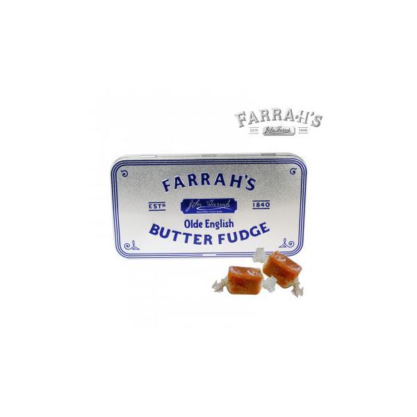 FARRAH'S  ファラーズ オールドイングリッシュバターファッジ 12個 10031006 スイーツ・お菓子 エンボス加工の効いたクラシック缶に入った英国のお菓子