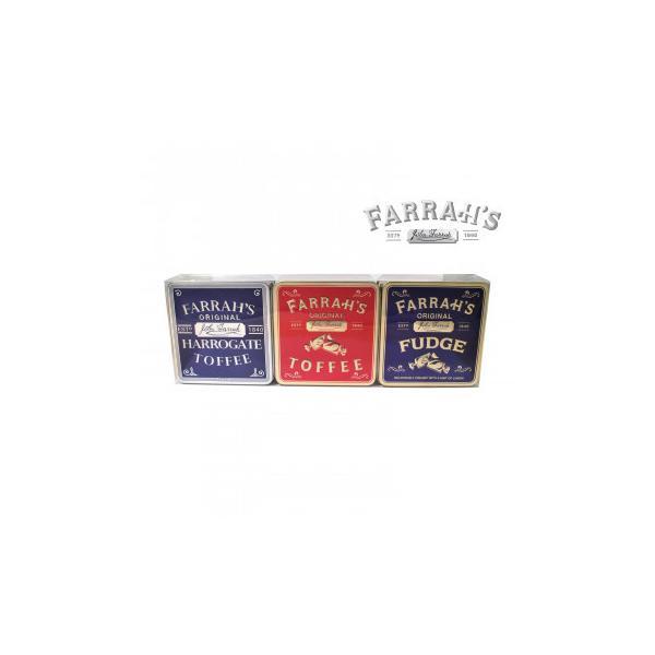 FARRAH'S  ファラーズ フラット缶3種 6個 10031004 スイーツ・お菓子 エンボス加工の効いたクラシック缶に入った英国のお菓子