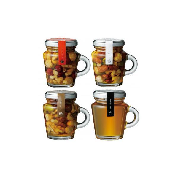 ノースファームストック はちみつ(百花蜜)+ハニーナッツ3種(ドライフルーツ/北海道ハチミツ/シナ)セット 各3個 フルーツ・野菜 可愛らしいビン入りはギフトにも