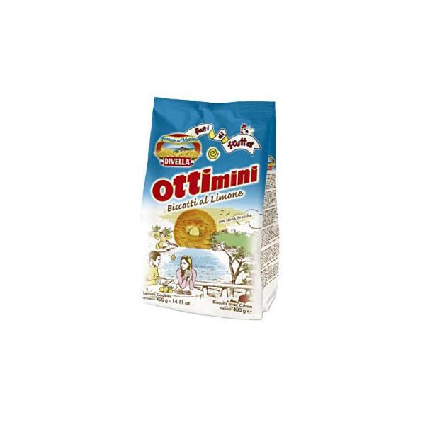 DIVELLA ディヴエッラ オッティーミニ・アル・リモーネ(レモン風味) 400g 18袋セット 606-908 スイーツ・お菓子 朝食やおやつに!ミルクやコーヒー、フルー