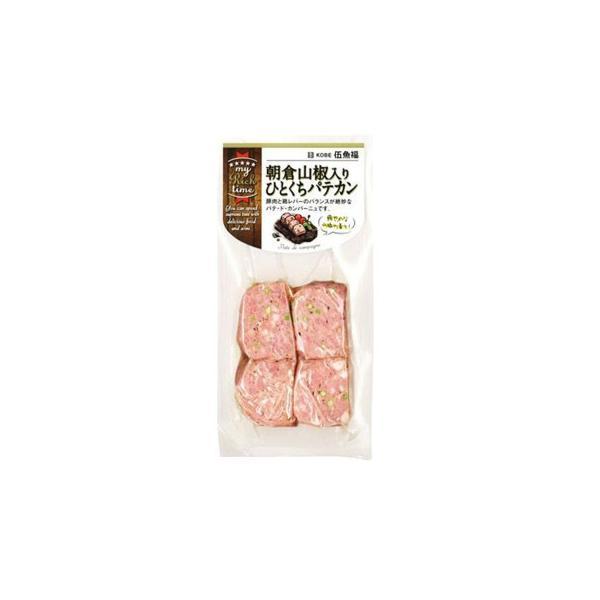 伍魚福 おつまみ 朝倉山椒入りひとくちパテカン 70g×10入り 213960 肉・肉加工品 ひとくちサイズなので、女性にも食べやすく!