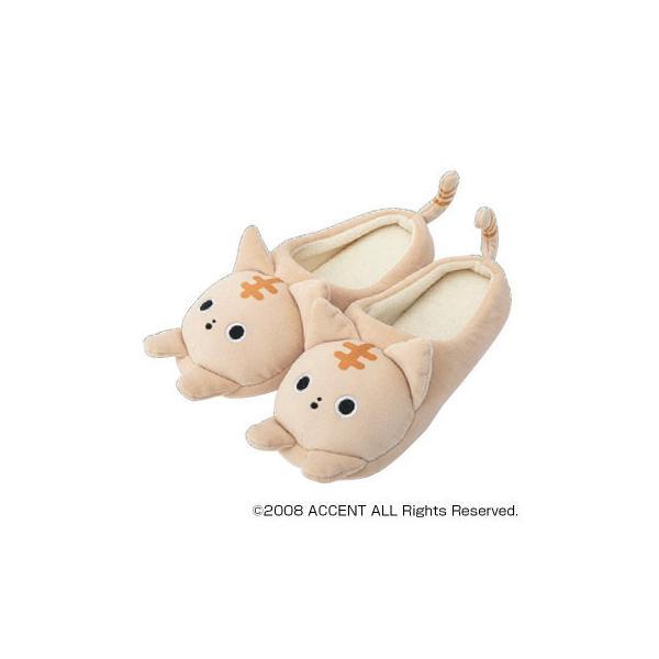 ACCENT NOBINOBIYORI ルームシューズ T51005・2 とらちゃん その他インテリア 可愛い猫ちゃんがデザインされたルームシューズ