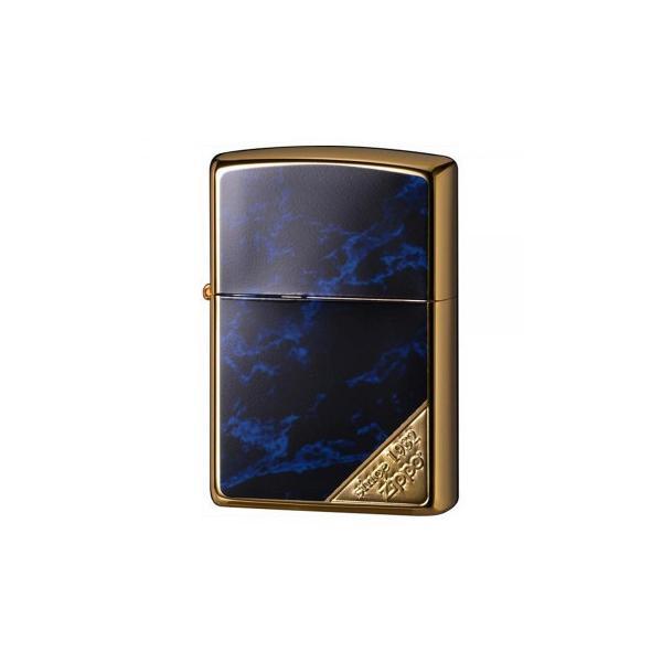 ZIPPO(ジッポー)ライター マーブルブルーZIPPOロゴ 大理石風 2G-BLMZL 喫煙グッズ 高級感のあるデザインのジッポー