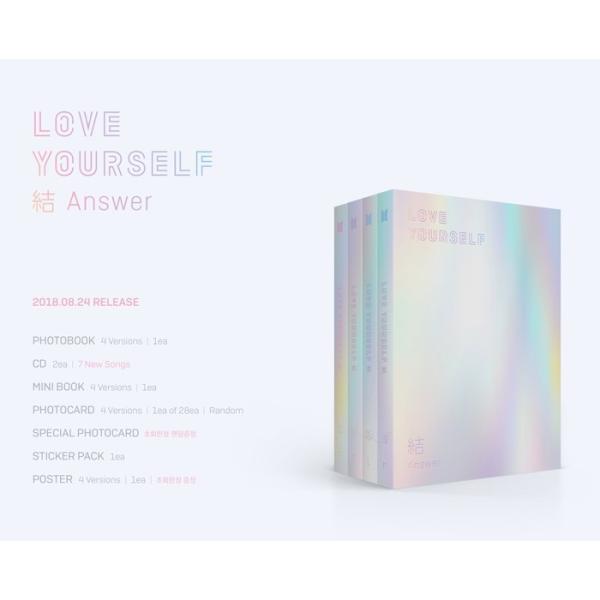 BTS (防弾少年団) - LOVE YOUR SELF 結 'Answer' CD (韓国盤)|scriptv|02