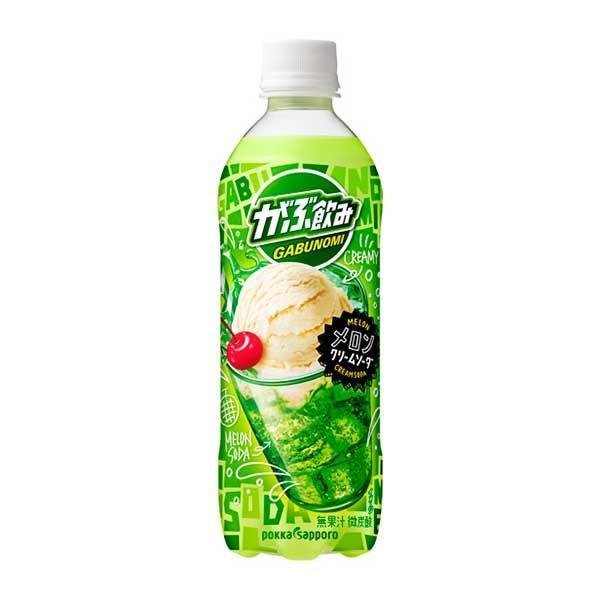 ポッカサッポロ がぶ飲みメロンクリームソーダ ペット 500ml x 48本 2ケース販売 ポッカサッポロ 日本 飲料 炭酸 JE86 送料無料 本州のみ