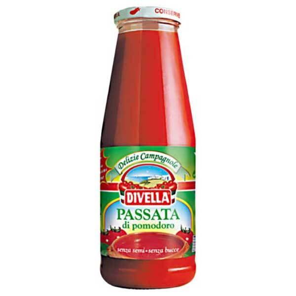 ディヴェッラ パッサータ ポモドーロ 瓶 680g x 12本 ケース販売 メモス 食品 イタリア トマト製品 606-511 送料無料 本州のみ