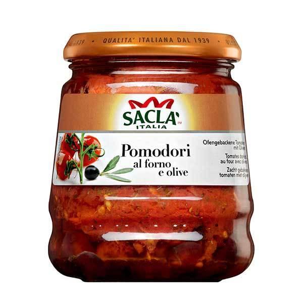 サクラ プラムトマトのアル フォルノ オリーブ 瓶 285g x 6個 ケース販売 モンテ イタリア パスタソース 005281