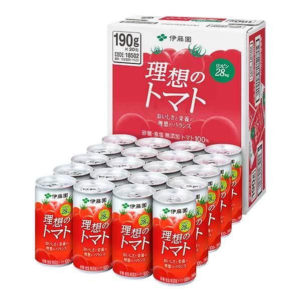 伊藤園 理想のトマト 缶 190g x 60本 3ケース販売 伊藤園 日本 飲料 野菜ジュース 18502