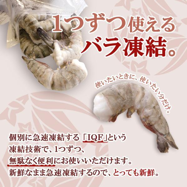 エビ ブラックタイガー 新商品 殻付き 17〜21尾|seafoodhonpo88|02