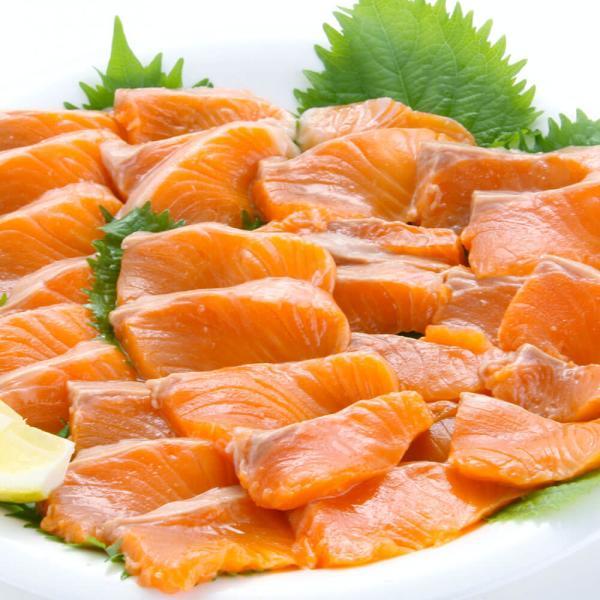 サーモン 刺身 銀鮭 半身 1kg超|seafoodhonpo88|10