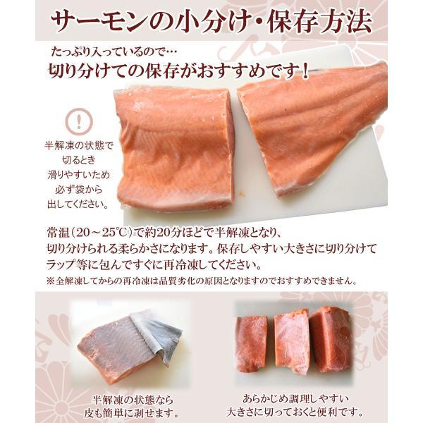 サーモン 刺身 銀鮭 半身 1kg超|seafoodhonpo88|05