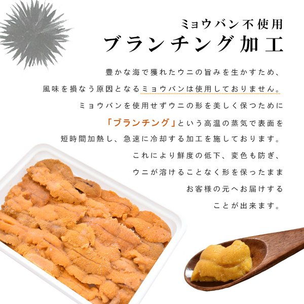 ウニ 無添加 100g 2人前|seafoodhonpo88|04