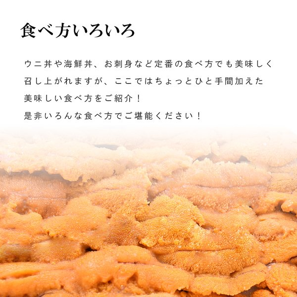 ウニ 無添加 100g 2人前|seafoodhonpo88|06