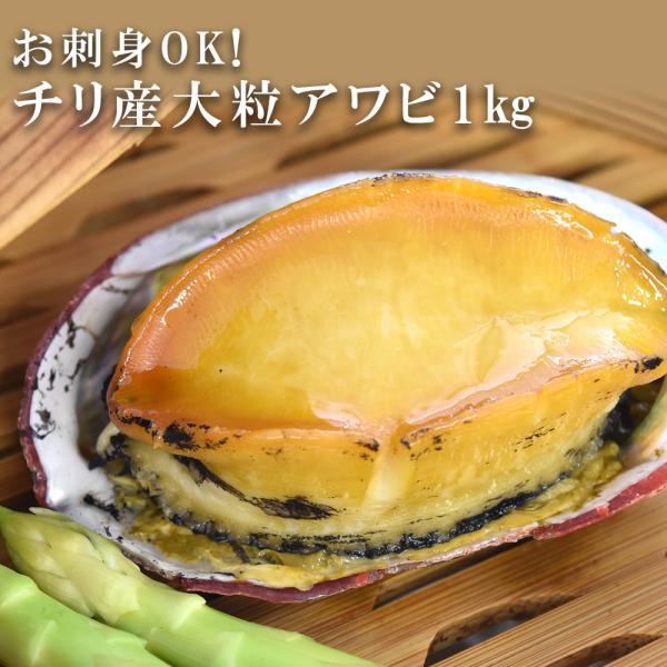 アワビ 刺身用 1kg チリ産 6粒|seafoodhonpo88