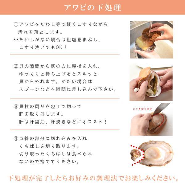 アワビ 刺身用 1kg チリ産 6粒|seafoodhonpo88|05