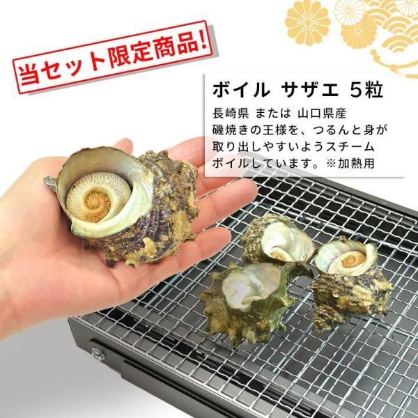 海鮮 バーベキュー ホタテ 牡蠣 サザエ 殻付き 貝 セット|seafoodhonpo88|04