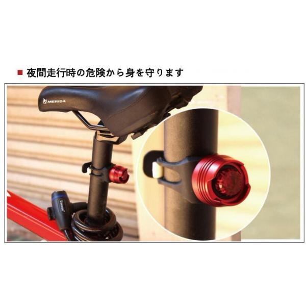 自転車ライト テールライト LED コンパクト 明るい 取り付け簡単  LEDライト ヘルメットライト 軽量 防水 前後 seanestle 02
