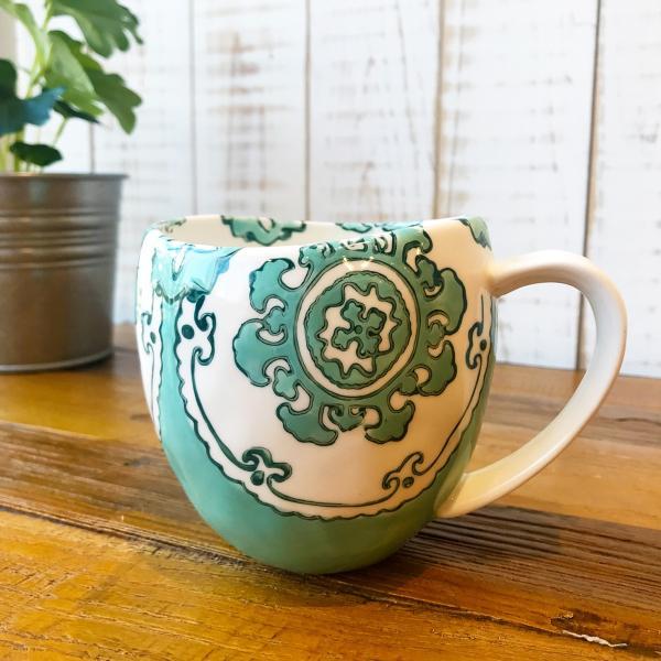 マグカップ ハワイ ビーチテイスト コーヒーカップ ティーカップ Gloriosa Mug Mint ミント エメラルドグリーン アンソロポロジー|seasky
