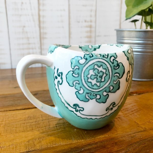 マグカップ ハワイ ビーチテイスト コーヒーカップ ティーカップ Gloriosa Mug Mint ミント エメラルドグリーン アンソロポロジー|seasky|02