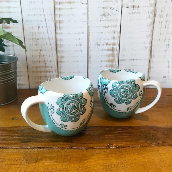 マグカップ ハワイ ビーチテイスト コーヒーカップ ティーカップ Gloriosa Mug Mint ミント エメラルドグリーン アンソロポロジー|seasky|05