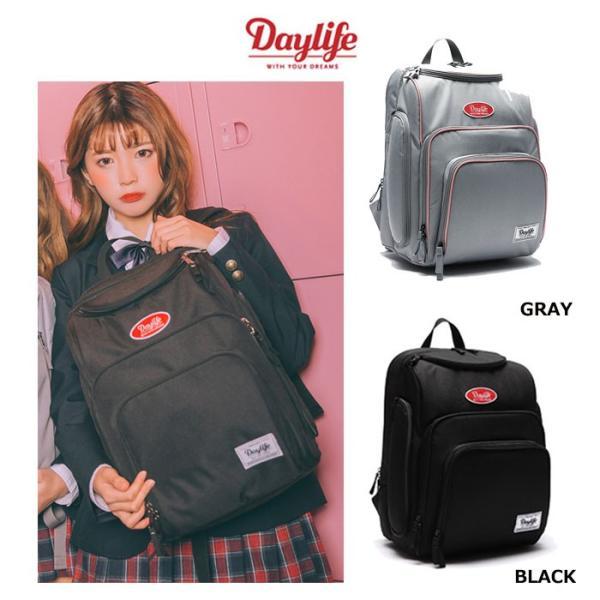724cb9593cc2 daylife ディライフ バッグ バックパック DAYLIFE STUDY BACKPACK リュック韓国 ブランド A4サイズ対応 BLACK