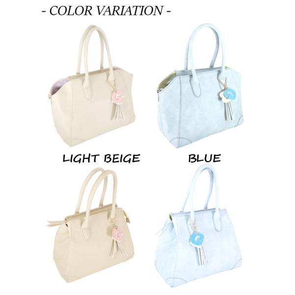 GIRLS BAG ガールズバッグ ノーマルサイズ ブルー ライトベージュ レディース ハンドバッグ|seasons-style|02