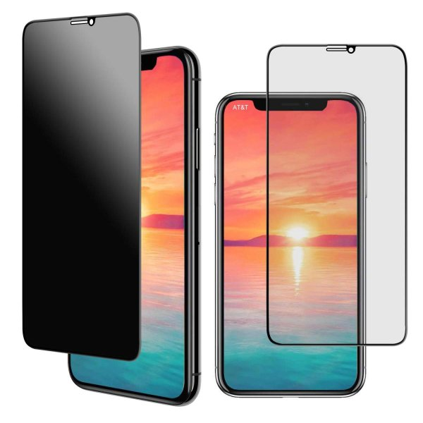 iPhone11 pro Max / iPhoneXS Maxガラスフィルム 覗き見防止フィルム【最新版】3Dソフトカーボンファイバーエッジ保護 超薄