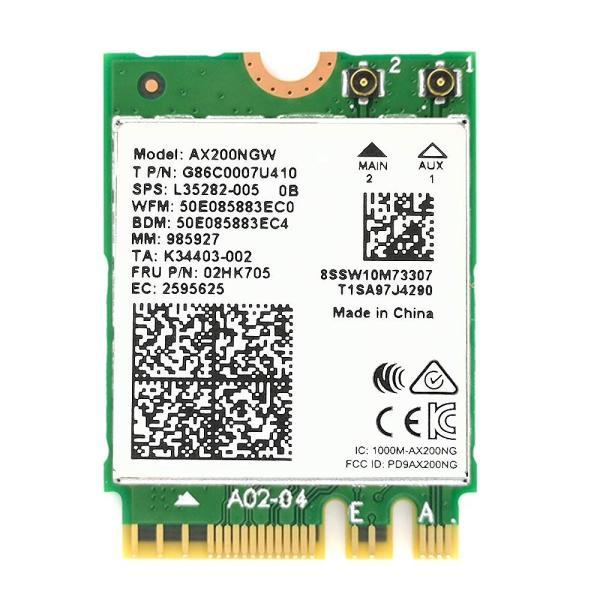 Intel AX200 バルク品 Wi-Fi6 + Bluetooth 5.0 M.2 無線LANカード 5GHz/2.4GHz 802.11ac MU-MIMO 802.11ax 2.4Gbps AX200NGW インテル|second-mobile