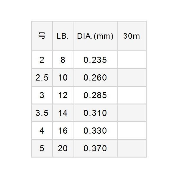 バリバス ストリームショックリーダー ナイロン 30m 10LB 2.5号