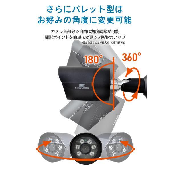 防犯カメラ 屋外 セット 監視カメラ PoE secu 18