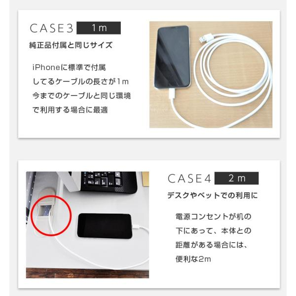 Lightningケーブル iPhone 充電ケーブル apple認証 1m 2m MFI認証 50cm 15cm secu 14