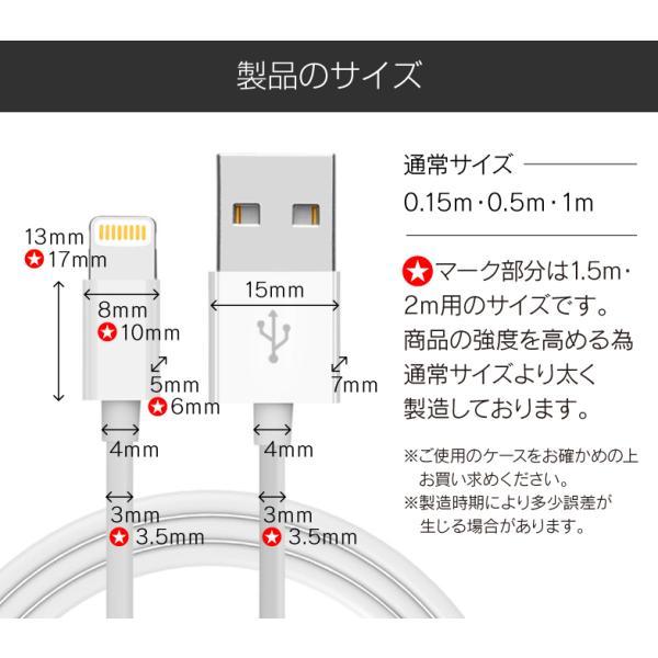 Lightningケーブル iPhone 充電ケーブル apple認証 1m 2m MFI認証 50cm 15cm secu 19