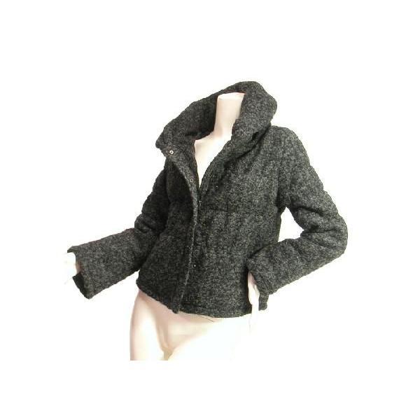 ジャケットブルゾンループツイードヘチマカラー立ち襟りふんわり上品シルエットチャコールグレーブラックSeduce|seduce|04