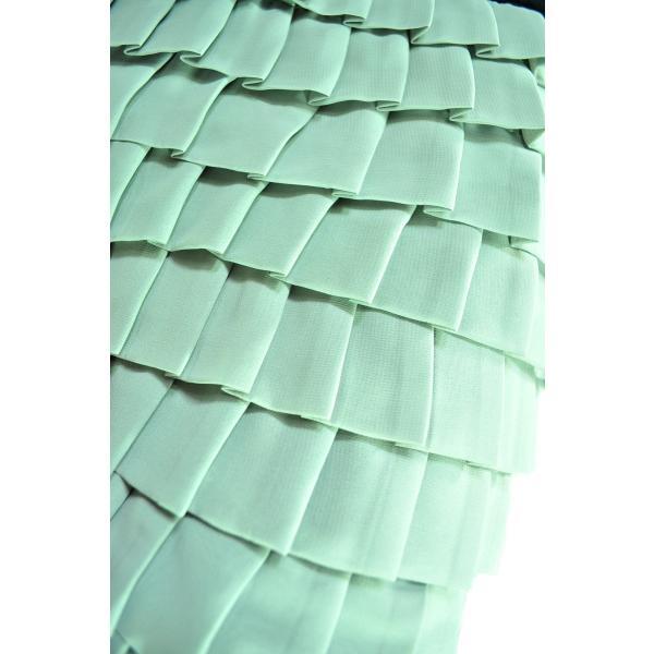 9段ティアードシフォンフリルスカート 上品なシルエットでシック 薄グリーン Seduce|seduce|05