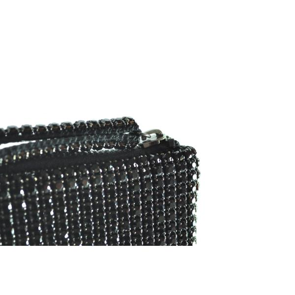ガラスストーン ハンドストラップ クラッチバッグ パーティー ポーチ 財布 フォーマル ブラック 黒 Seduce|seduce|04