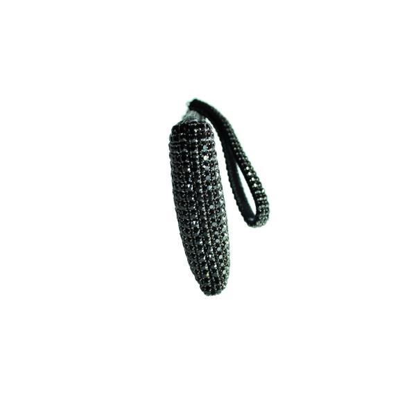 ガラスストーン ハンドストラップ クラッチバッグ パーティー ポーチ 財布 フォーマル ブラック 黒 Seduce|seduce|05
