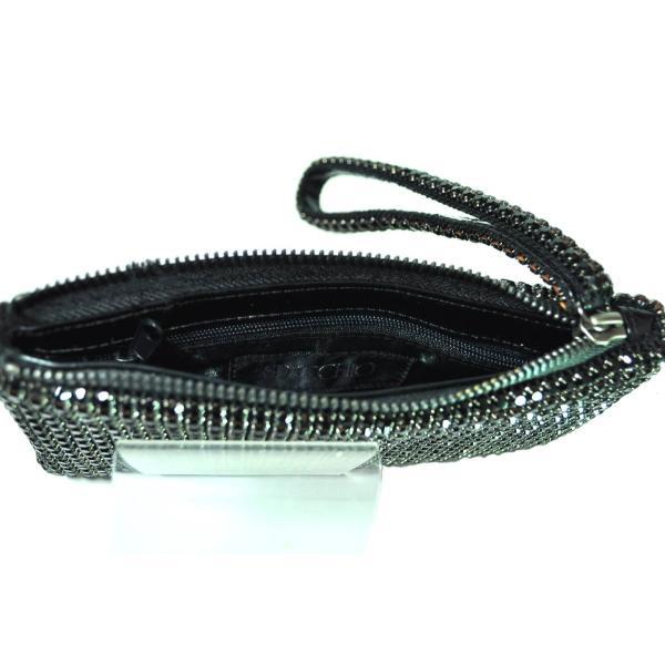 ガラスストーン ハンドストラップ クラッチバッグ パーティー ポーチ 財布 フォーマル ブラック 黒 Seduce|seduce|06