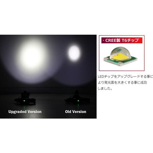 最大P25倍 LEDヘッドランプ LEDヘッドライト 充電式 レッド 防水 5000lm SOSフラッシュ機能CREE社T6 3200mAh×2|seedjapan|05