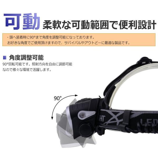 最大P25倍 LEDヘッドランプ LEDヘッドライト フォーカス機能 ブラック CREE社/米国 T6 バッテリー 充電 3段階 登山 懐中電灯 アウトドア レジャー キャンプ 釣り|seedjapan|03