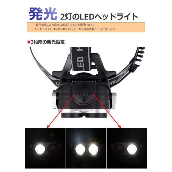 最大P25倍 LEDヘッドランプ LEDヘッドライト フォーカス機能 ブラック CREE社/米国 T6 バッテリー 充電 3段階 登山 懐中電灯 アウトドア レジャー キャンプ 釣り|seedjapan|04